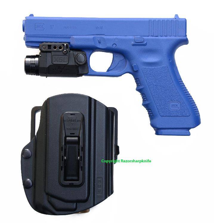 Viridian X5l Green Laser Light Tacloc Holster Glock 17