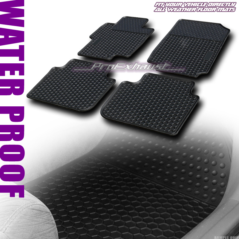 *SALE BLK ALL WEATHER FRONT+REAR FLOOR MAT CARPET 4P FITs