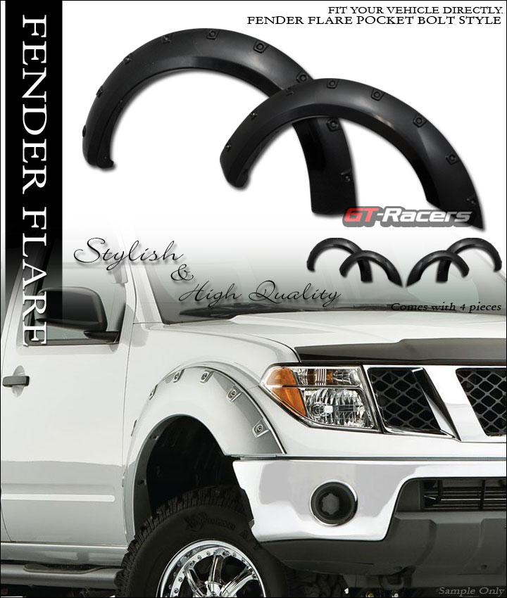 for 2005 frontier 6 ft long bed black boss pocket style fender flares kit cover ebay. Black Bedroom Furniture Sets. Home Design Ideas