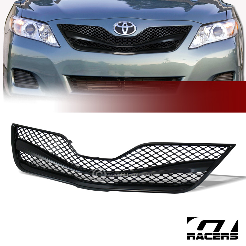 black wire mesh front hood bumper grill grille guard abs 2010 2011 toyota camry. Black Bedroom Furniture Sets. Home Design Ideas