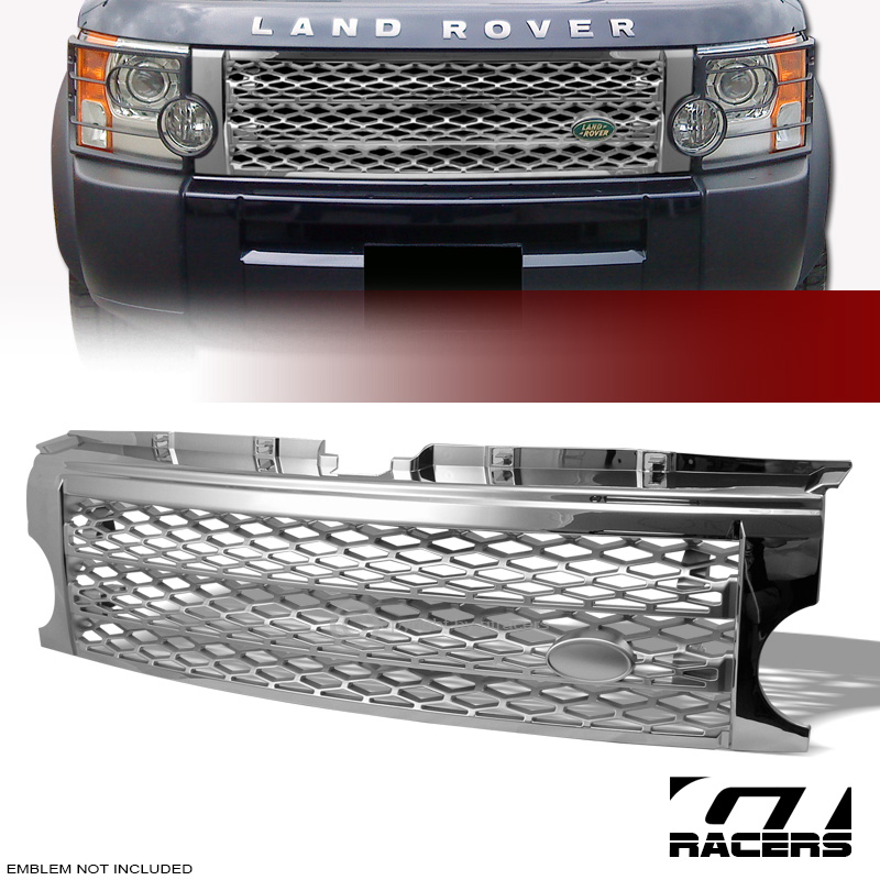 CHROME/SILVER MESH FRONT HOOD BUMPER GRILL GRILLE 05-09