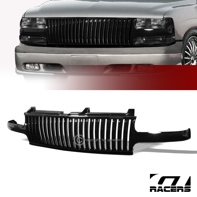 BLACK VERTICAL FRONT HOOD GRILL GRILLE 1999-2005 CHEVY