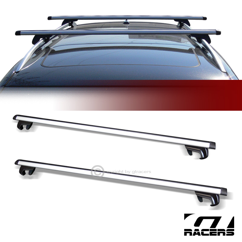 Universal 50 Quot Silver Oval Roof Top Rail Rack Tube Cross