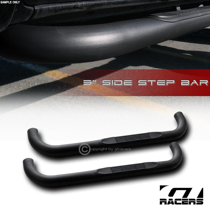 "3"" MATTE BLACK HD SIDE STEP NERF BARS BOARD 1997-2004 FORD"
