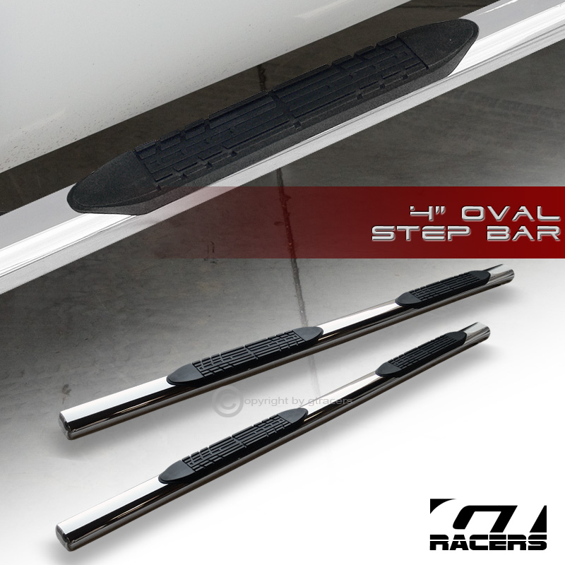 """4 Inch Running Boards Side Step For Ram 1500 2500 3500: 2009/2010+ DODGE RAM 1500 CREW CAB 4"""" CHROME SIDE STEP"""