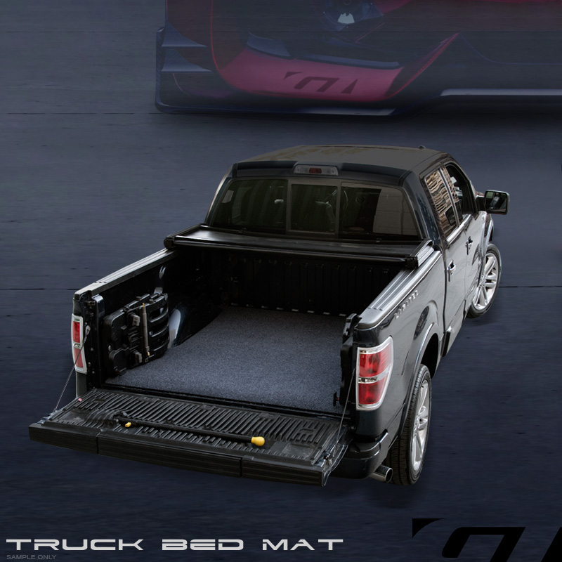 Grey Blk Truck Bed Cargo Box Trunk Floor Rug Mat Carpet 93