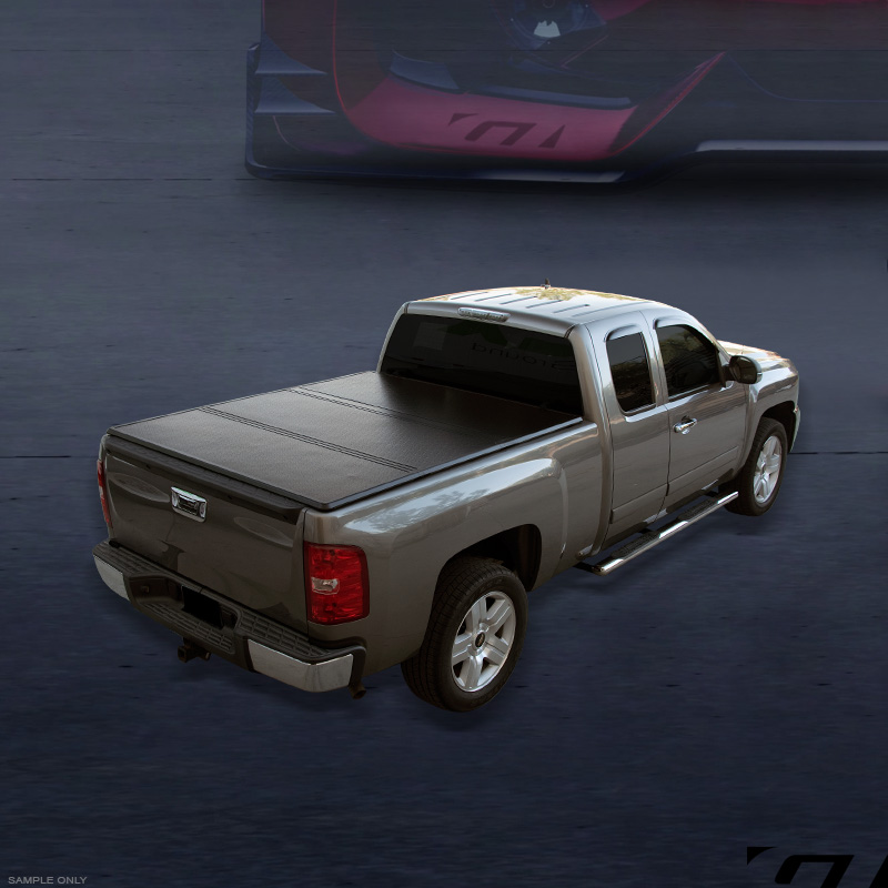 Tri Fold Solid Tonneau Cover Jr For 2005 Frontier King