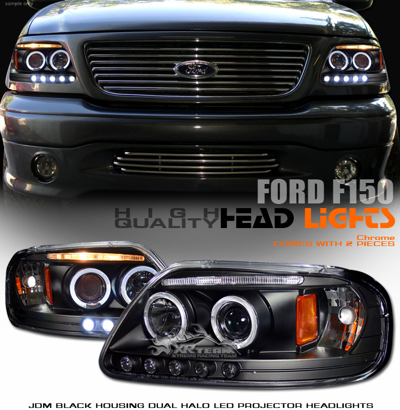 Ford F150 99: 97-03 FORD F150 HALO PROJECTOR HEADLIGHTS 98 99 2000 02