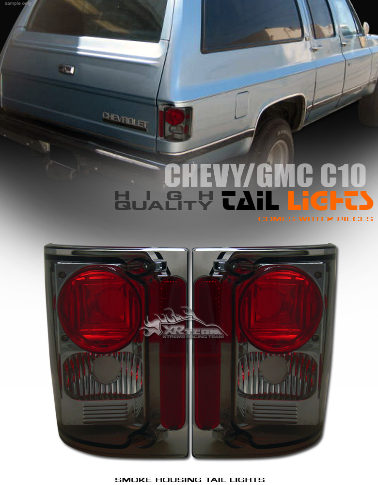 Chevy GMC 73 91 C K R V Suburban K5 Blazer Jimmy Smoked Lens altezza