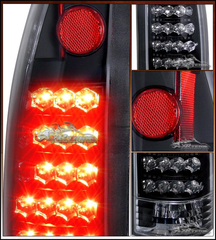 88 02 Chevy GMC C10 C K Pickup Suburban Tahoe Blazer Yukon Black LED