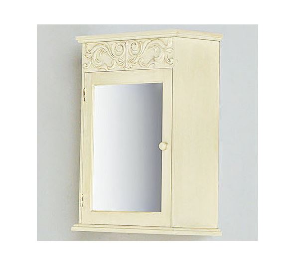 details about mirrored bathroom medicine cabinet in antique white