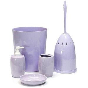 Mainstays 5 Piece Bath Accessory Set Lavender New Ebay