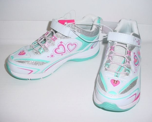 danskin now light up athletic shoes size 1 new ebay