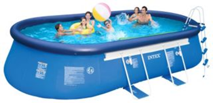 intex 20 39 x 12 39 x 48 oval frame pool new ebay. Black Bedroom Furniture Sets. Home Design Ideas