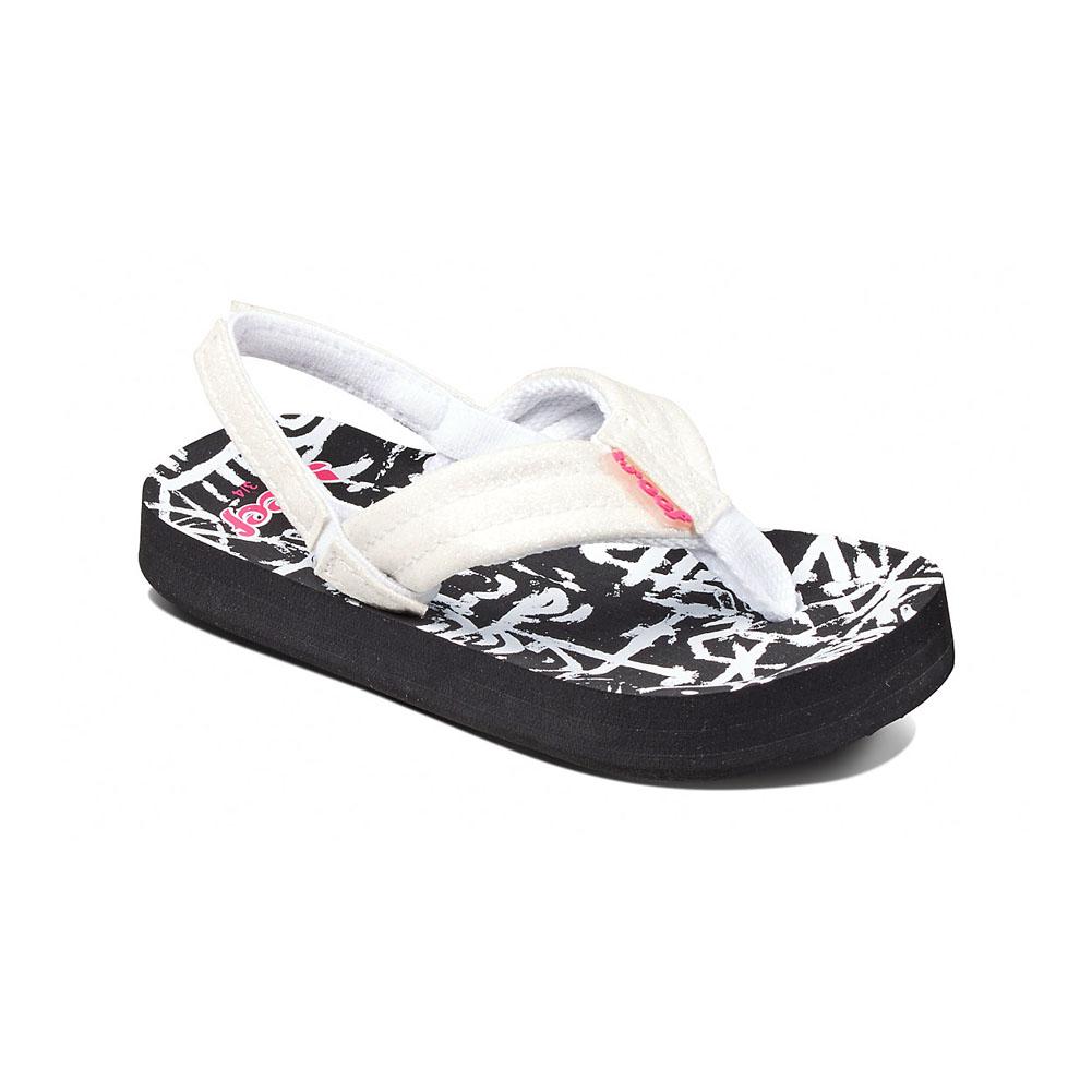 961122fc545735 Reef Kid s Little Ahi Stars Sandals Black White Aztec - MetroShoe Warehouse