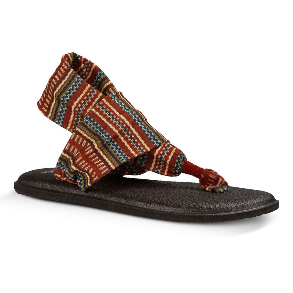 Sanuk Womens Yoga Sling 2 Prints Sandal Footwear Size 10 Burgundy Bayridge Blanket lpshuYD