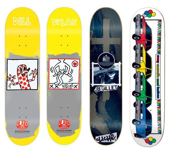 4 8in Skateboard Deck Bulk Lot Decks Alien Workshop Cliche