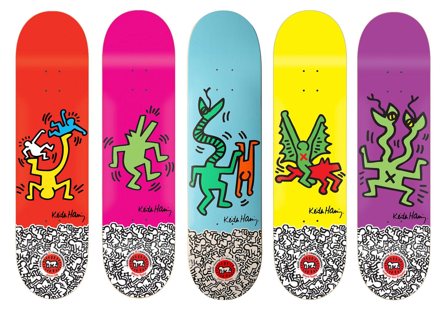 Alien Workshop Keith Haring Skateboard Deck Lot 5 1st