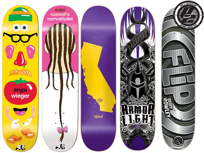 5 High Tech Skateboard Deck Pro Decks Bulk Lot Enjoi Blind