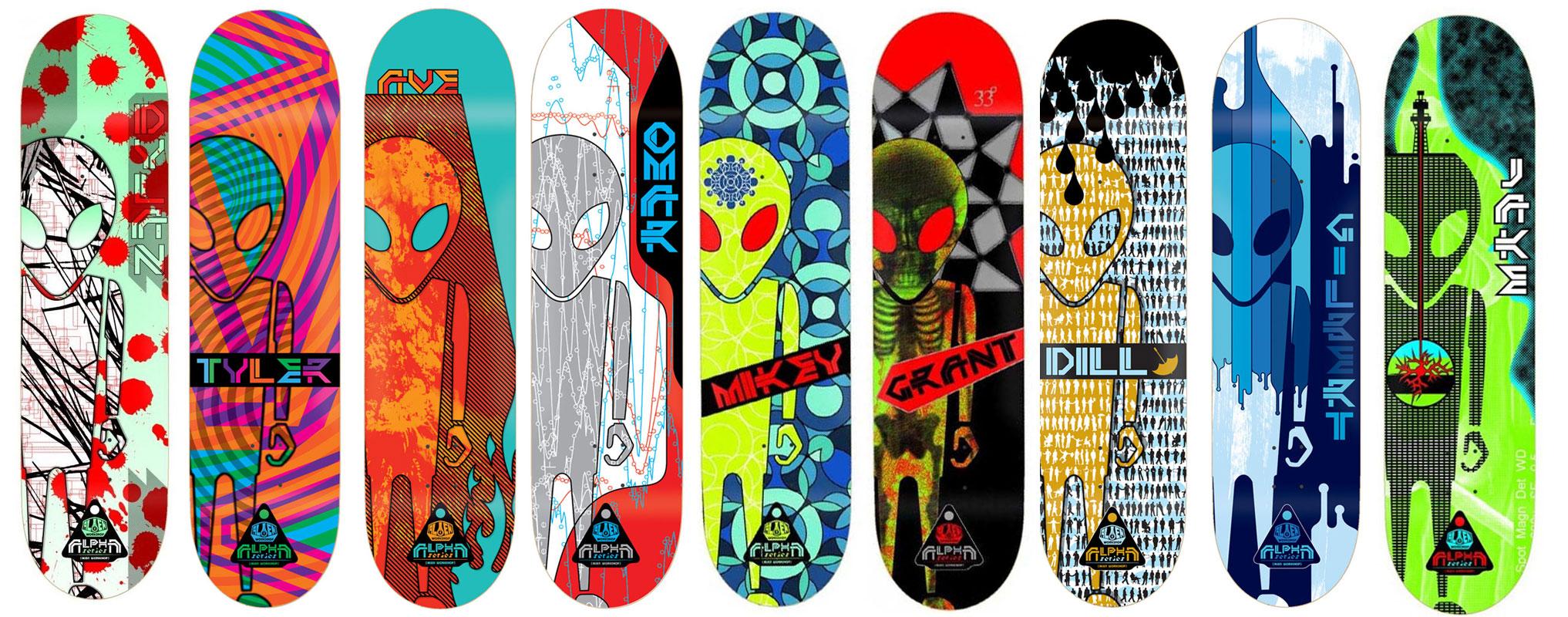 Alien Workshop Skateboard Bulk Deck Lot 9 Signature Alpha