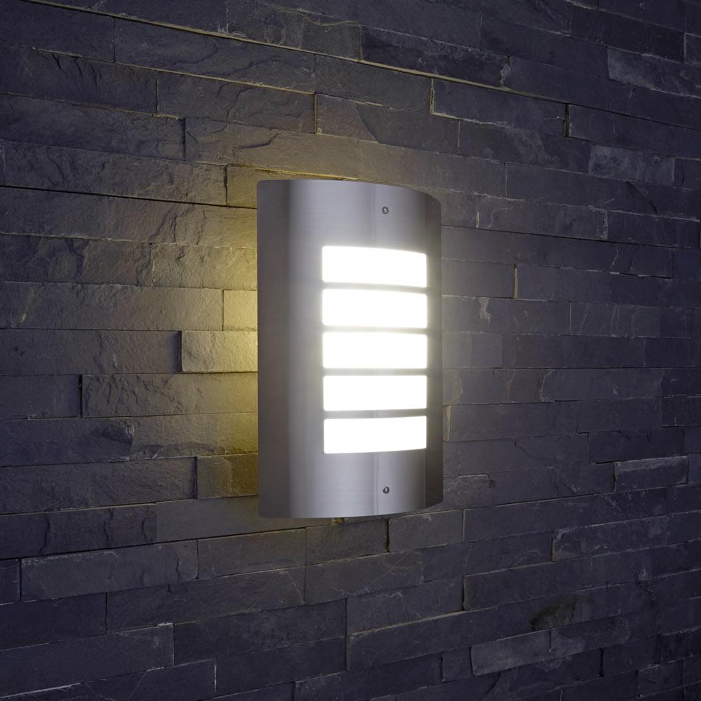 Porch Light Pir: Stainless Steel Outdoor Wall Light