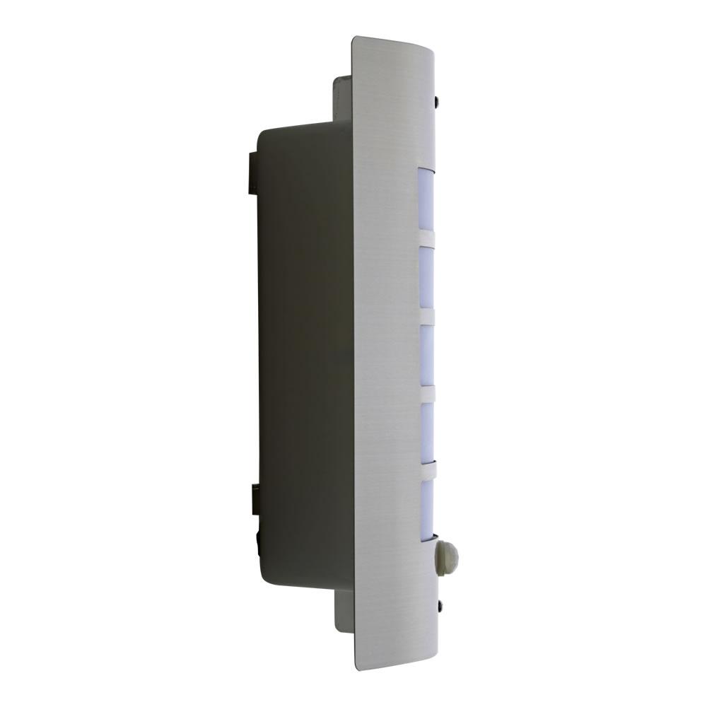 Biard Orleans Outdoor Wall Light: Stainless Steel Outdoor Wall Light