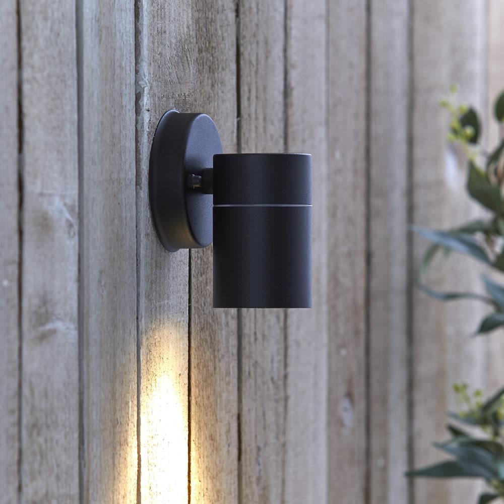 Round Up Down Indoor Outdoor Wall Light - PIR Optional - Black Copper Steel eBay