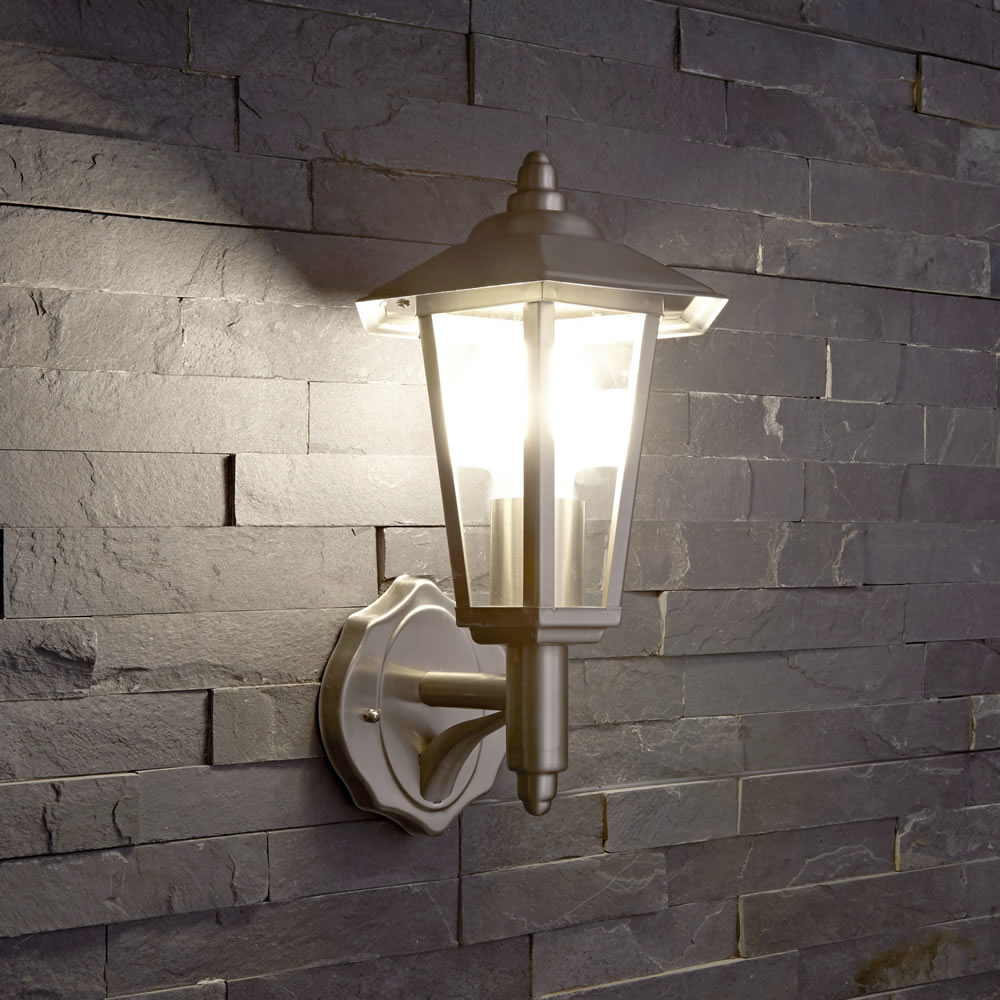 Outdoor Traditional Wall Lantern Light - PIR - Stainless Steel / Copper / Black eBay