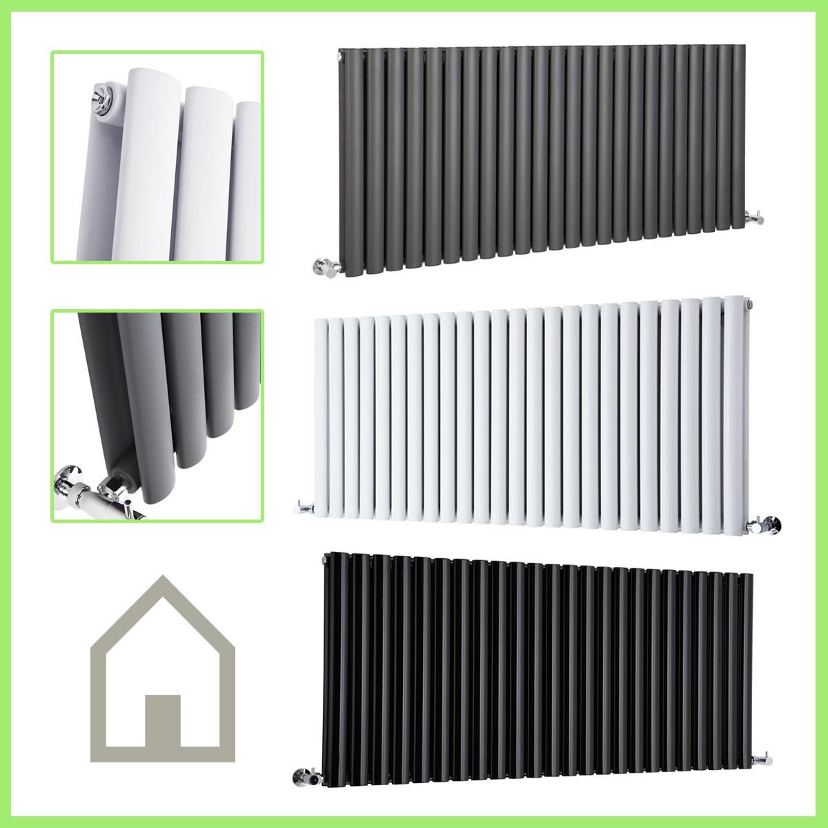 horizontal designer column radiators double single. Black Bedroom Furniture Sets. Home Design Ideas
