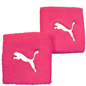 2-x-Puma-Fundamental-Sweatbands-Wristbands-rrp-7-Black-White-or-Pink
