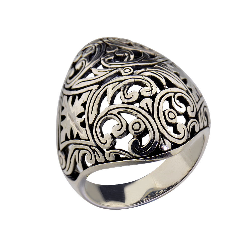sterling silver bali jewelry dome filigree women 39 s. Black Bedroom Furniture Sets. Home Design Ideas