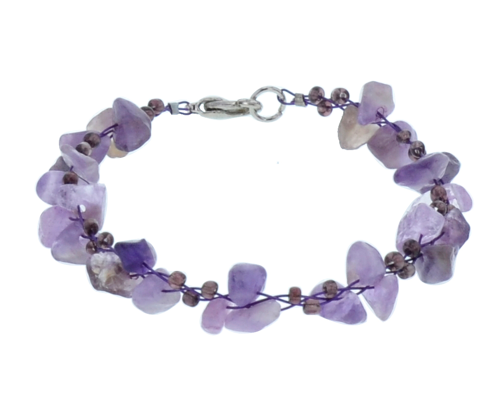gemstone bead multi color lobster clasp stainless steel