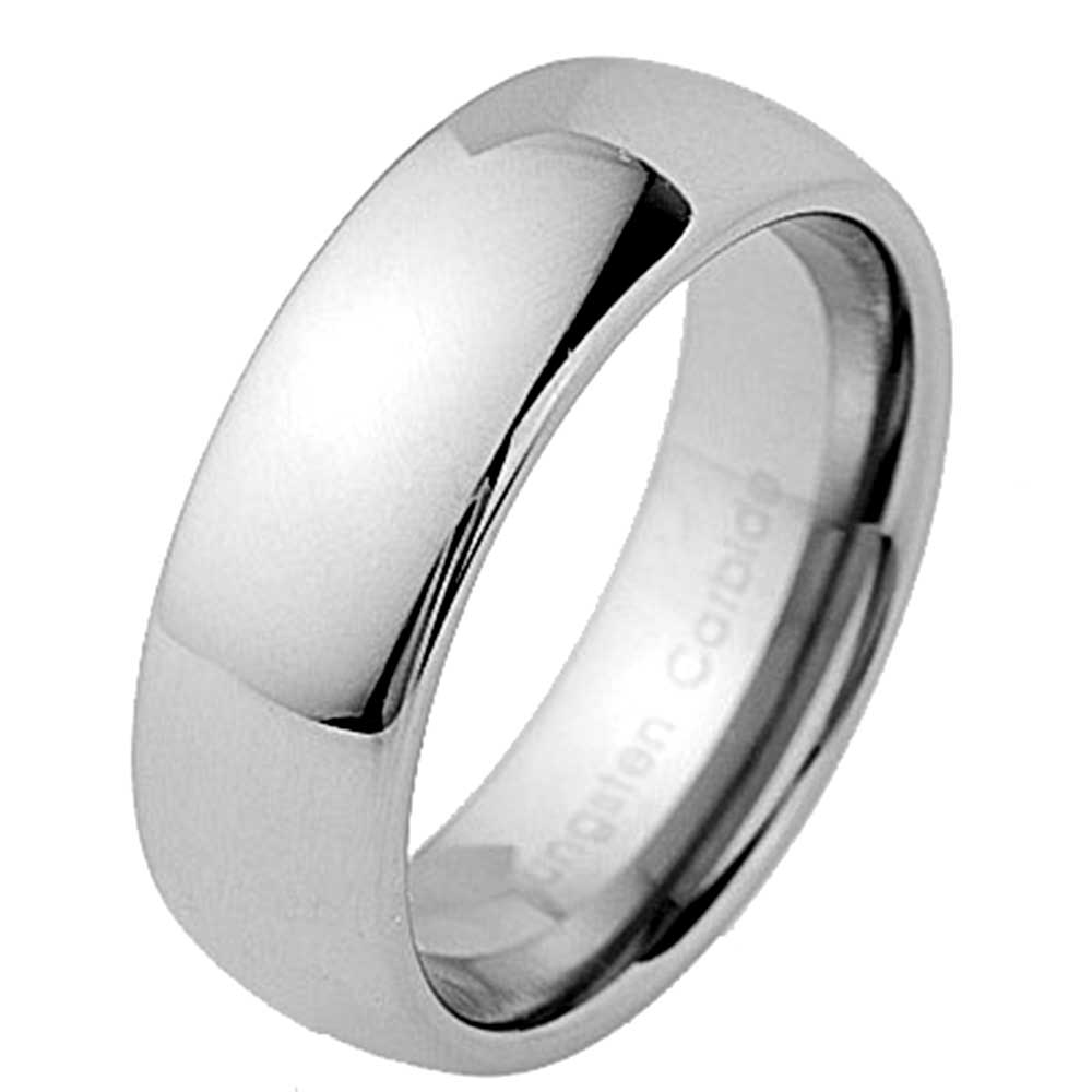 8mm tungsten carbide classic dome mens wedding band new ebay. Black Bedroom Furniture Sets. Home Design Ideas