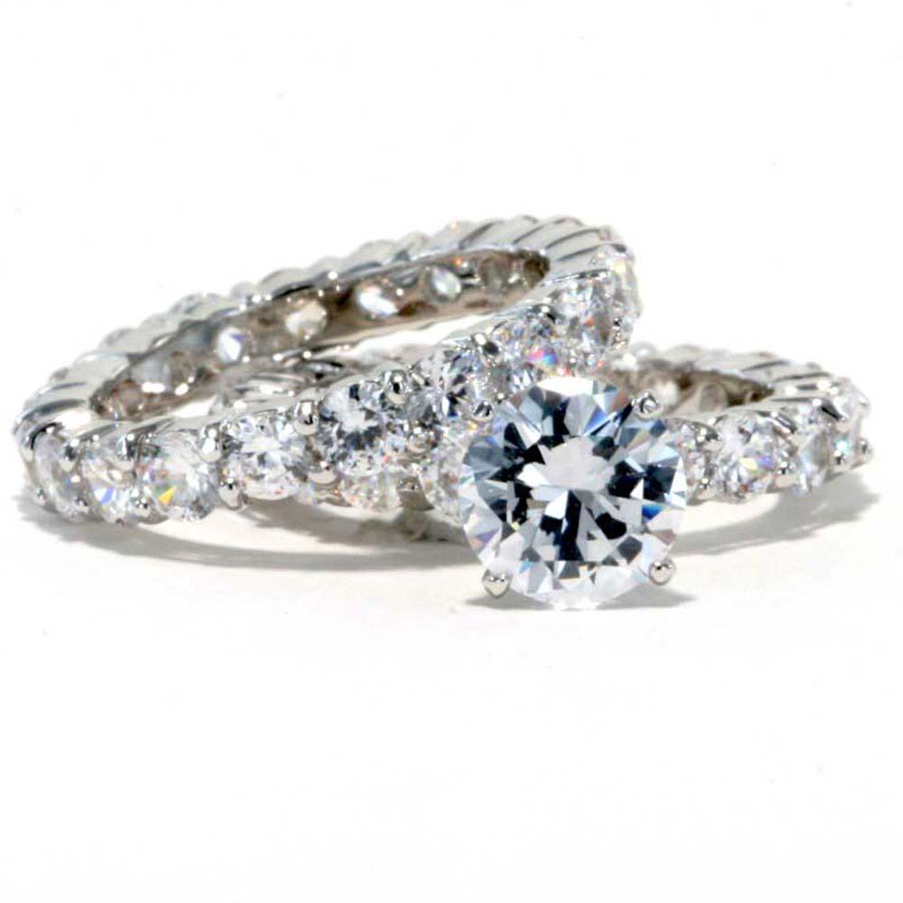 2 3 carat cubic zirconia platinum ep bridal eternity