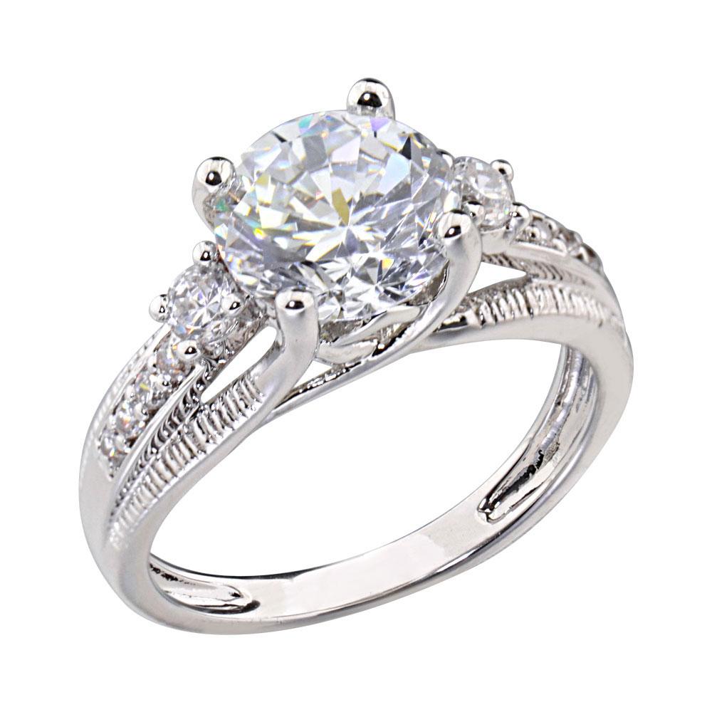 2 5 carats shape cubic zirconia platinum tone