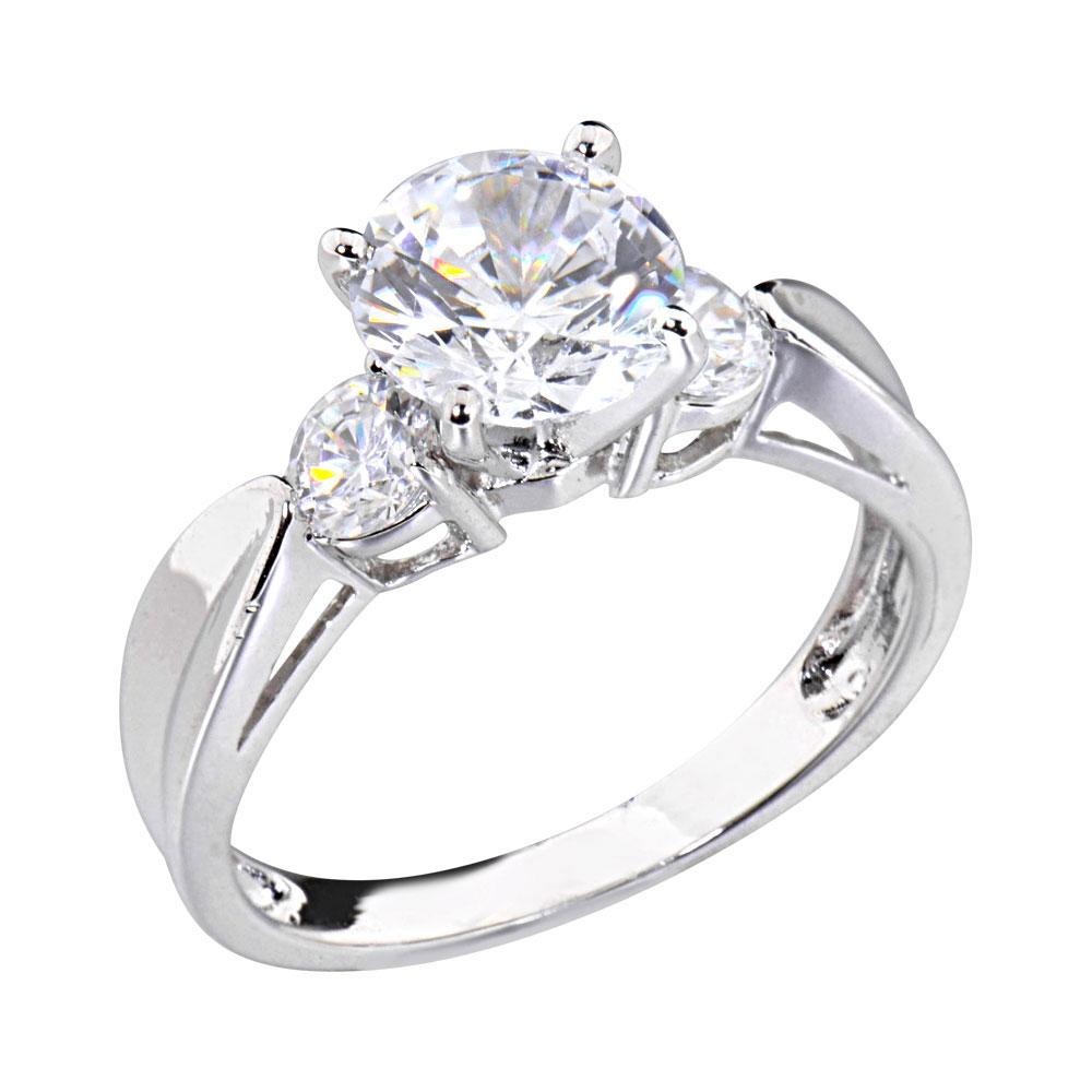 2 carats shape cubic zirconia platinum tone
