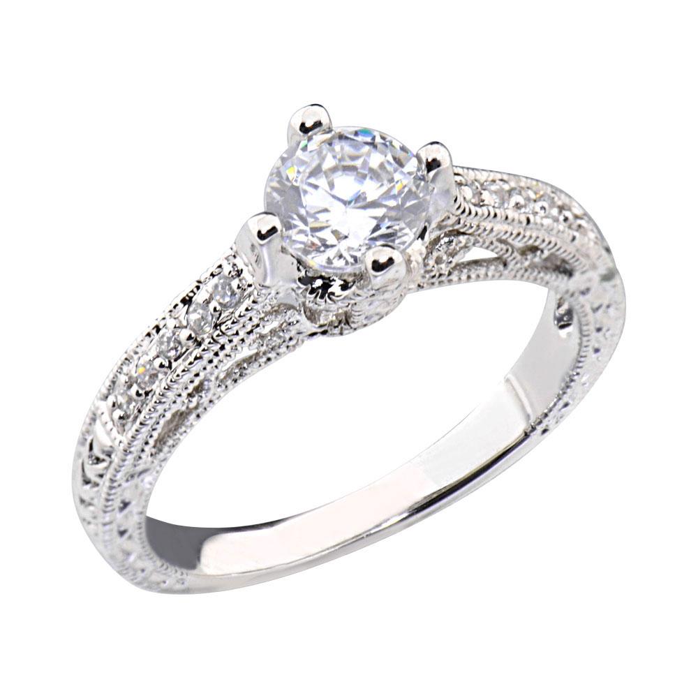 0 8 carats shape cubic zirconia platinum tone