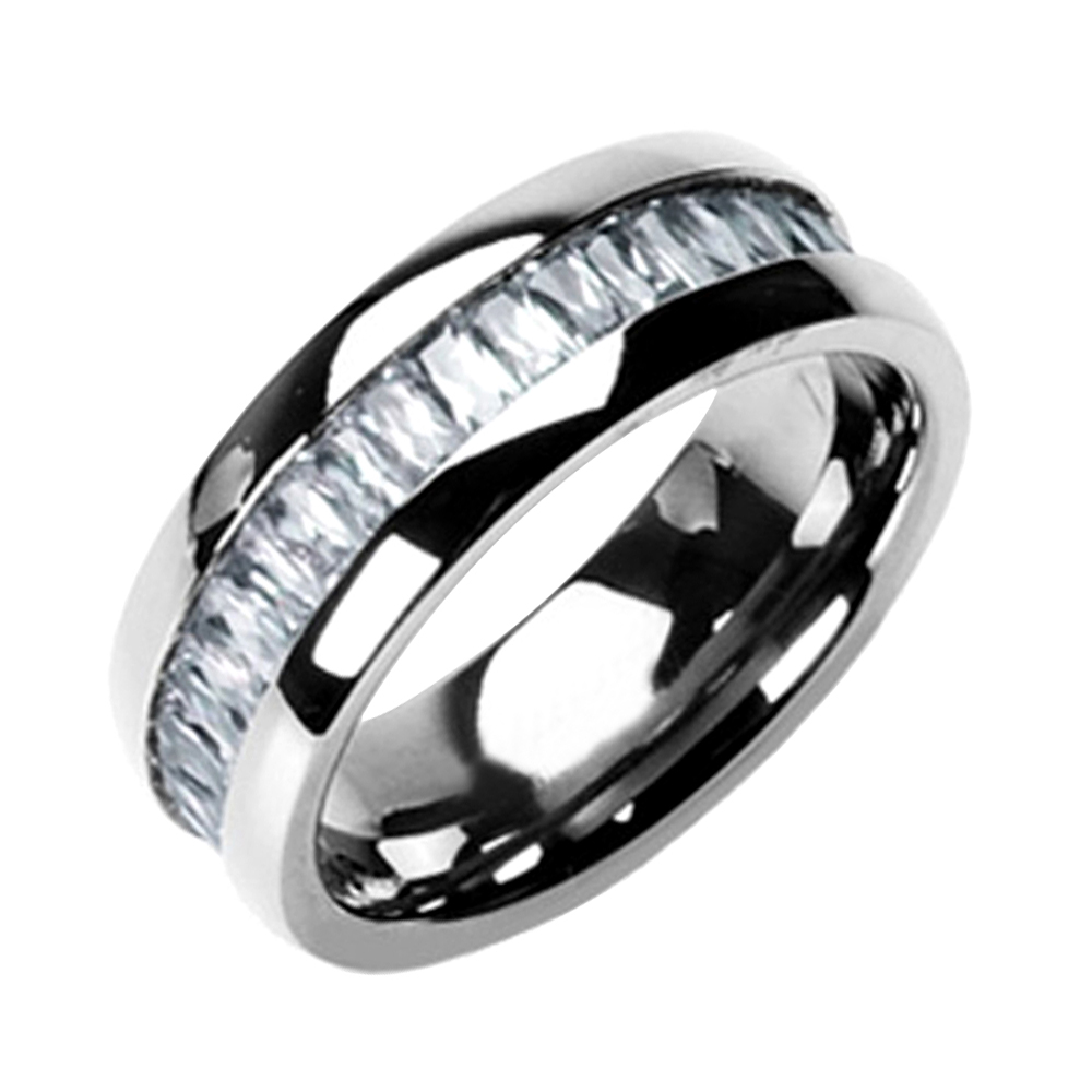 emerald cut cubic zirconia eternity band men 39 s wedding ring ebay