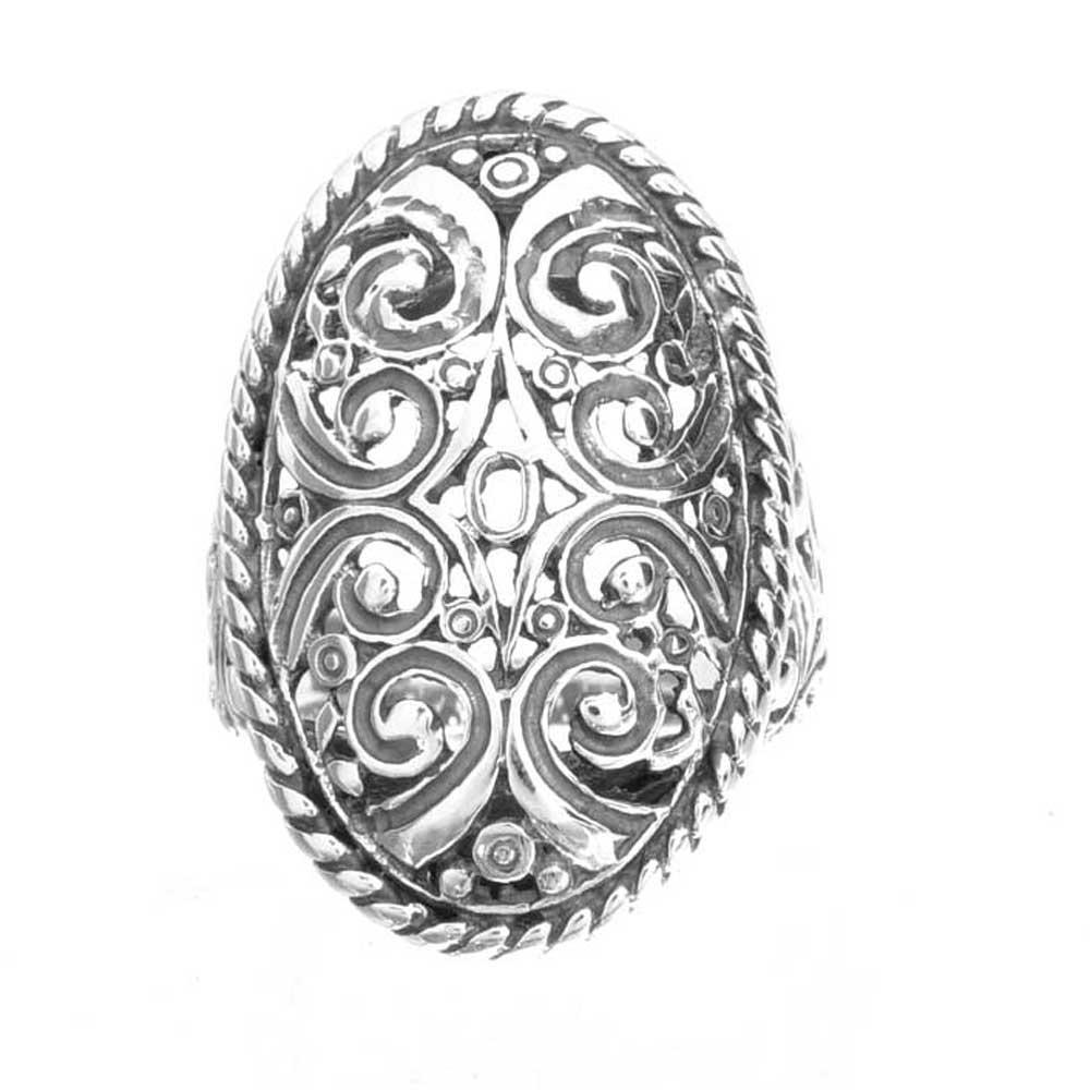 sterling silver oval shape filigree bali jewelry women. Black Bedroom Furniture Sets. Home Design Ideas
