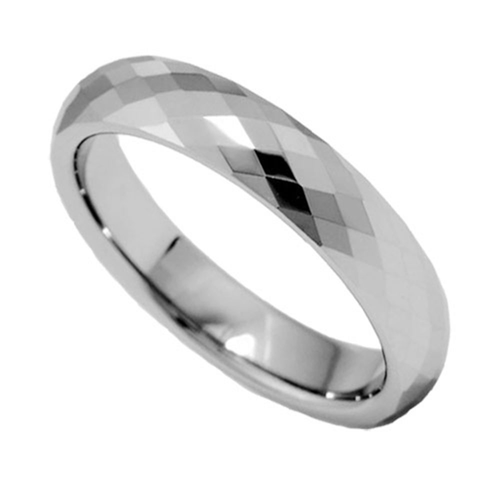 6mm faceted high tungsten band jewelry