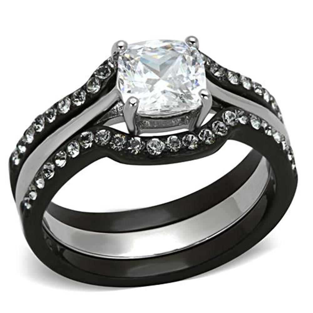 stainless steel women 039 s engagement wedding ring - Stainless Steel Wedding Rings