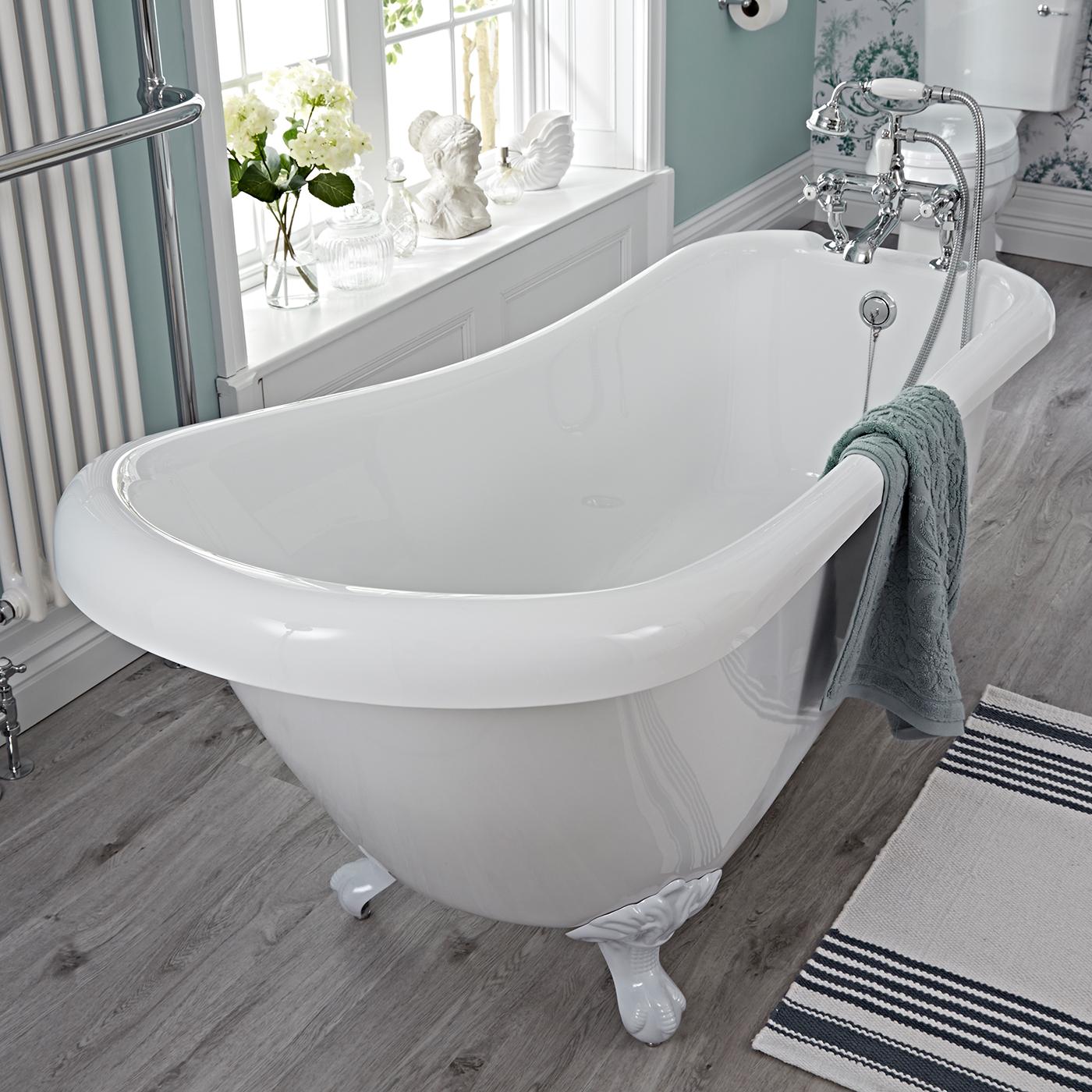 Vasca bagno epoca centro stanza acrilica schienale alto for Vasca centro stanza