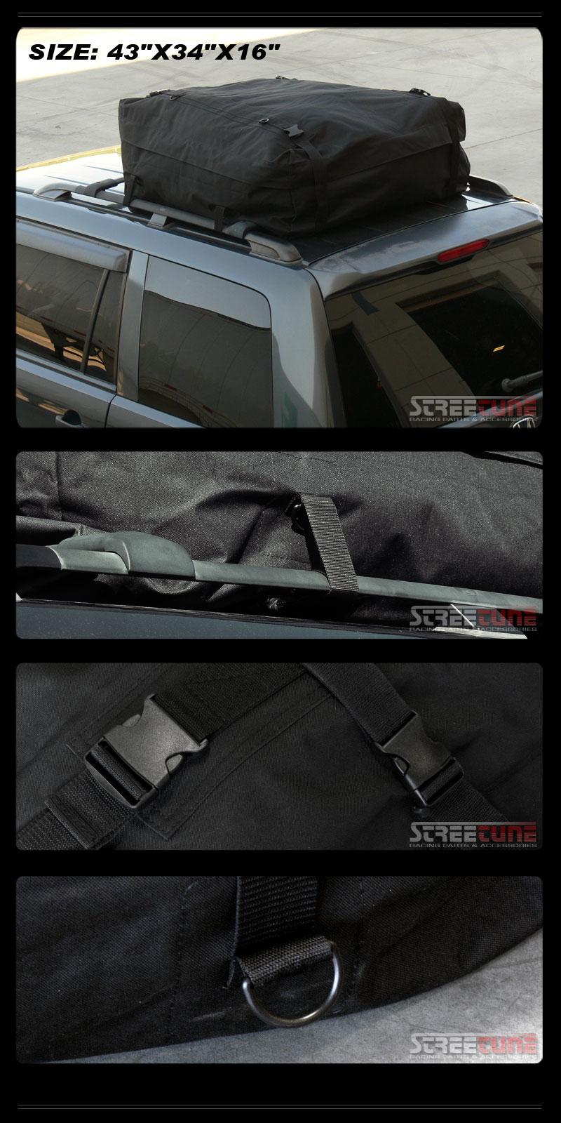 Blk Rainproof Roof Top Rack Cargo Carrier Bag Trunk Bed Hitch Mount Interior S3 Ebay