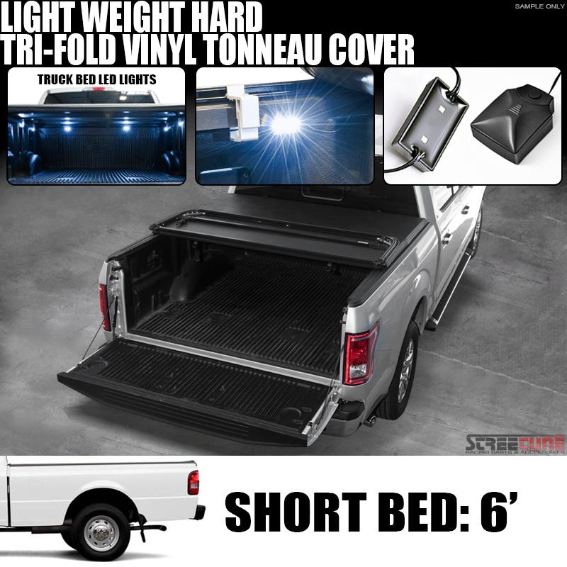 1994 Mazda B Series Regular Cab Suspension: Tri-Fold Hard Vinyl Tonneau Cover+White Led Lights 83