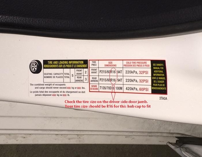 "4 Pc Set of 16"" Matte Black Hub Caps for OEM Steel Wheel ..."