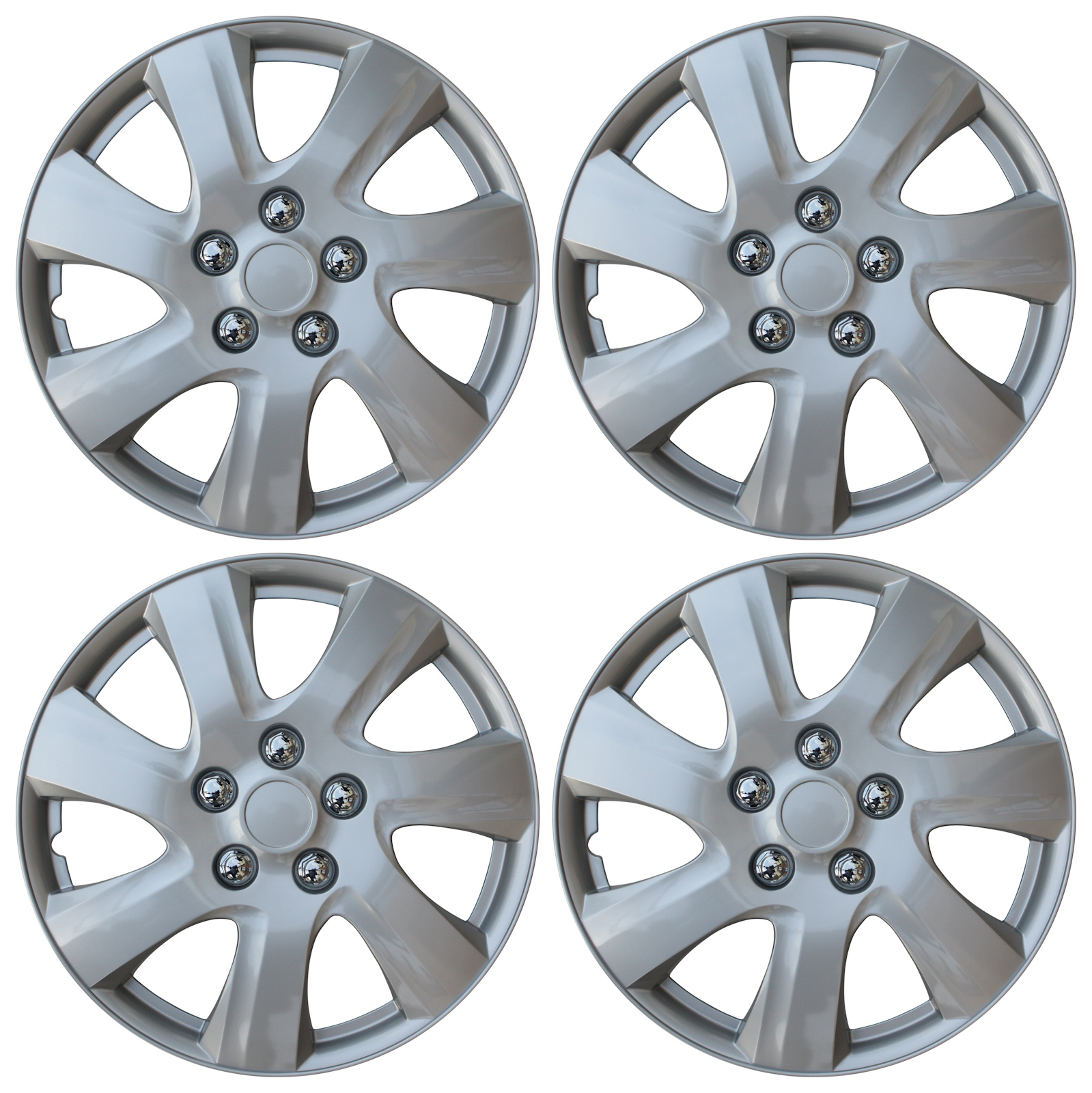 "Hubcaps For 2008 Toyota Corolla: NEW SET Of 4 Hub Caps Fits TOYOTA CAMRY 15"" Universal ABS"