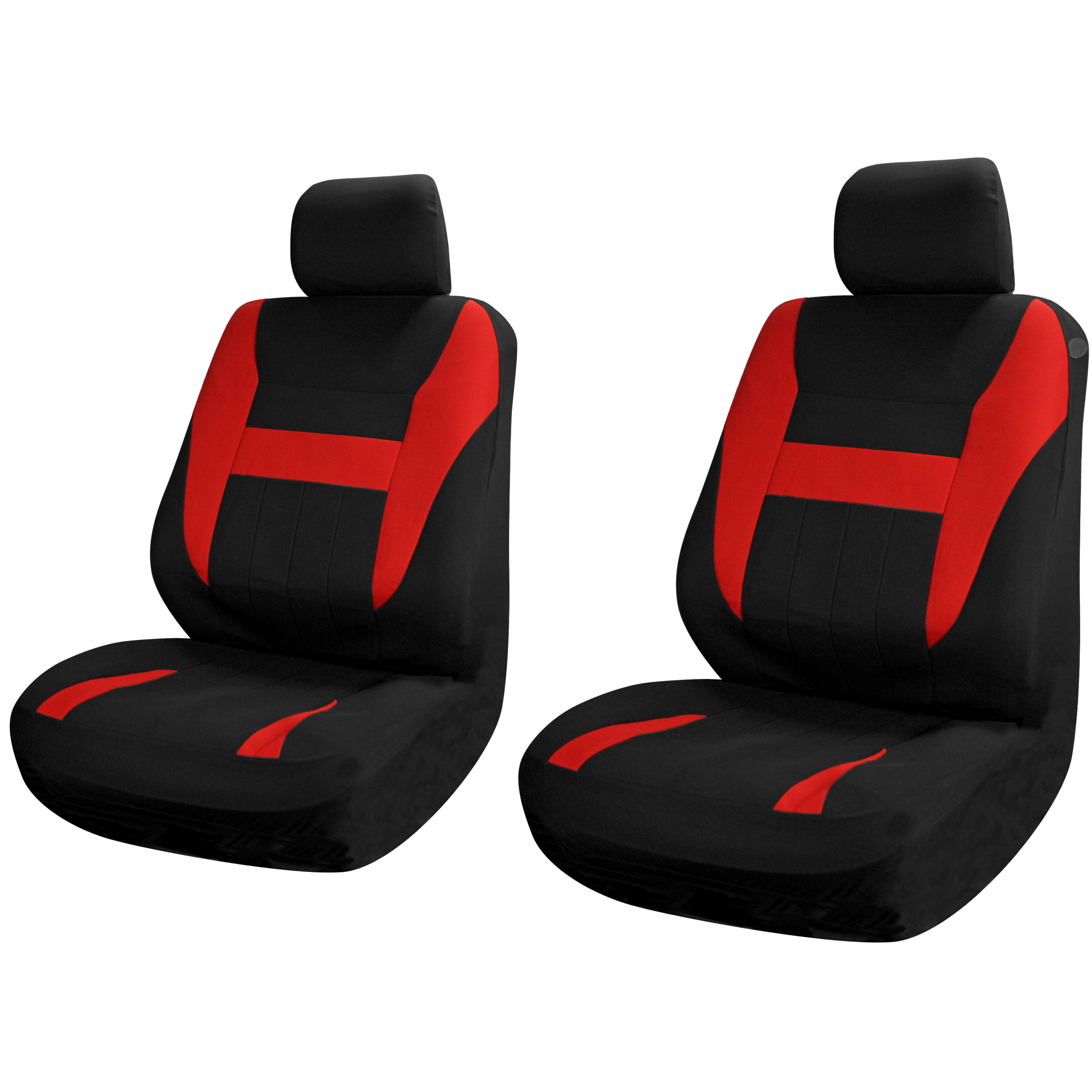Car Seat Covers For Front Bucket Seats Black Red 6pc