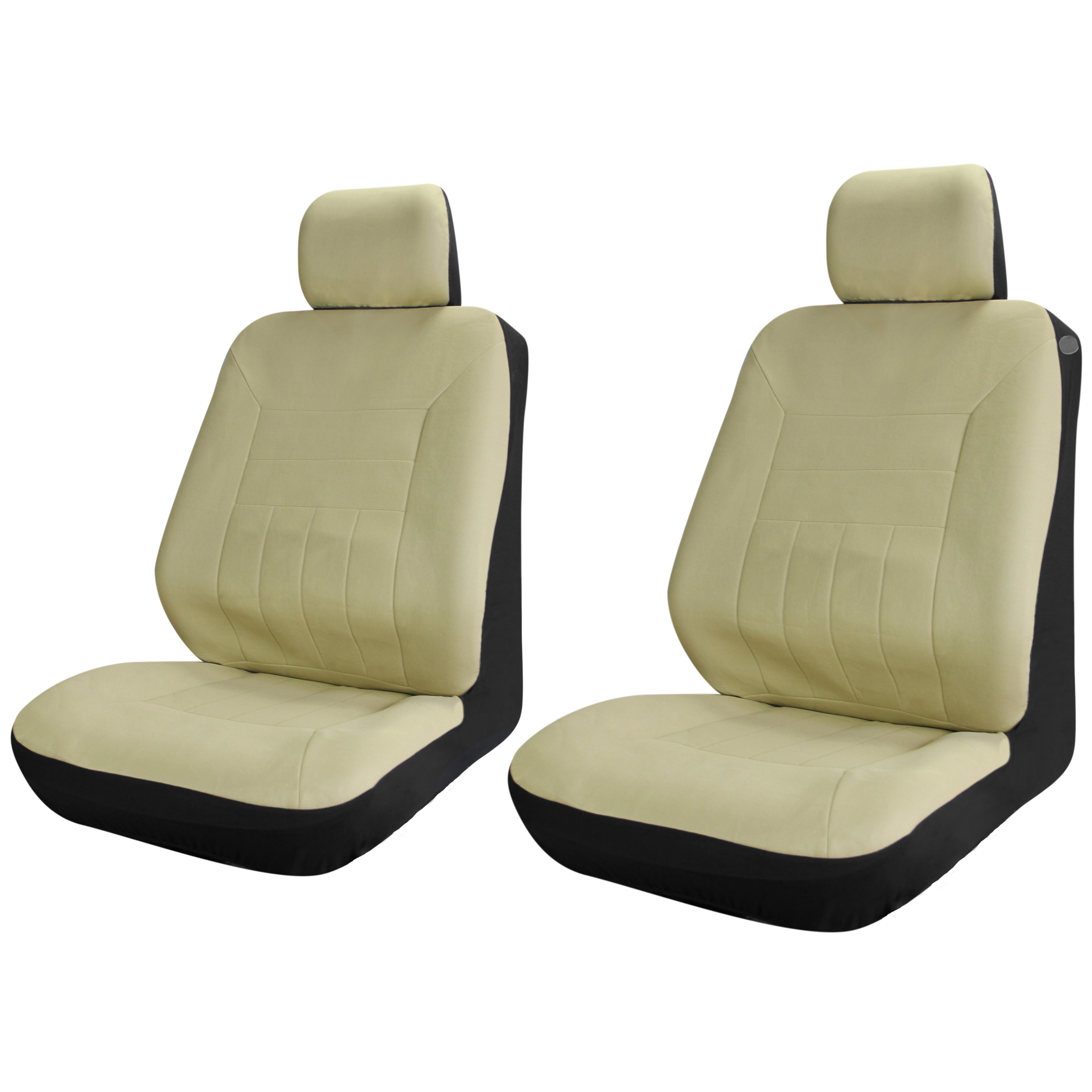 SUV Truck Van Seat Covers Solid Beige Tan 6pc Set For