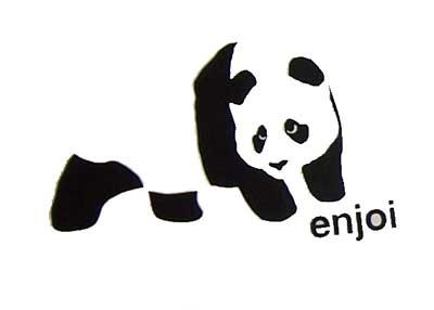 Enjoi Skateboards Panda Logo Skateboard Sticker Decal