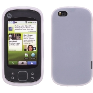 Wireless Solutions Silicone Gel Case for Motorola Cliq XT - Clear